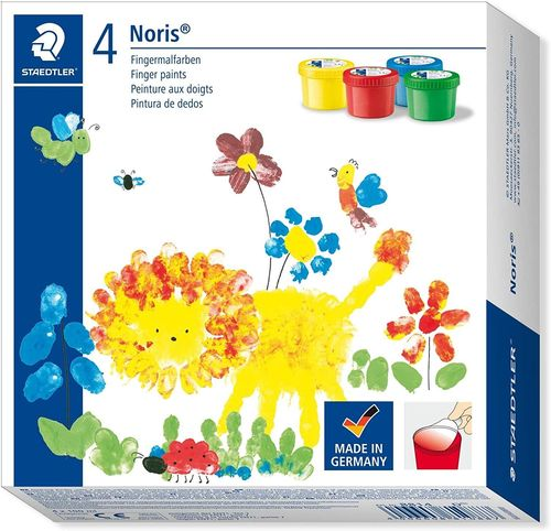 Noris Fingermalfarben 4 x 100 ml