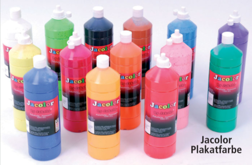 Jacolor Plakatfarben - Fingerfarben 1.000 ml