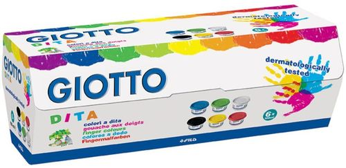 Giotto Fingerfarben 6 x 100 ml