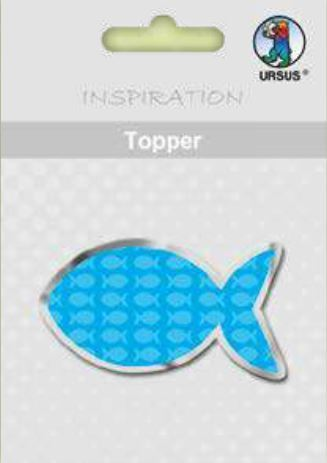 "Topper ""Joy"" Fisch blau, 8er"