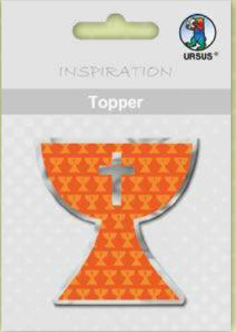"Topper ""Joy"" Kelch orange, 8er"