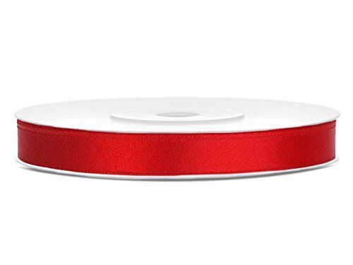 Satinband 5 mm rot