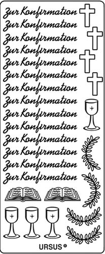 "Kreativ Sticker ""Zur Konfirmation"" silber"