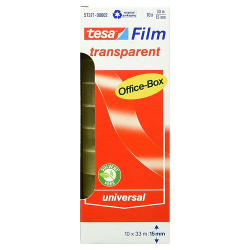Tesafilm transparent 33 m x 15 mm 10er